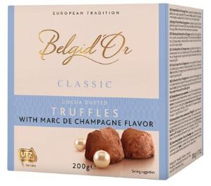 Belgid'Or Belgian Cocoa Dusted Champagne Truffles 200g